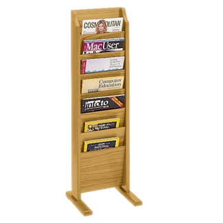 Floor Literature Rack with 7 Magazine Pockets, 33145