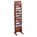 Floor Literature Rack with 10 Magazine Pockets, 33146