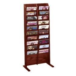 Floor Literature Rack with 20 Magazine Pockets, 33147