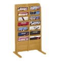 Literature Rack with 14 Magazine Pockets, 33148
