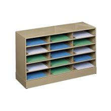 Steel 15 Pocket Literature Organizer with Base, 33286