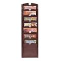 7-Pocket Wood Front Magazine Rack, 33353