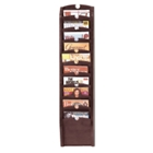 10-Pocket Wood Front Magazine Rack, 33354
