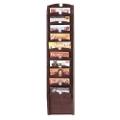 10-Pocket Wood Front Magazine Rack, 33354