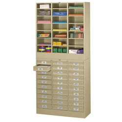 Legal Size Stackable 30 Drawer Cabinet with Literature Organizer