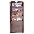 4-Pocket Wood Front Magazine Rack, 33374