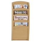 4-Pocket Wood Front Magazine Rack, CD02965