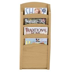4-Pocket Wood Front Magazine Rack, 33375