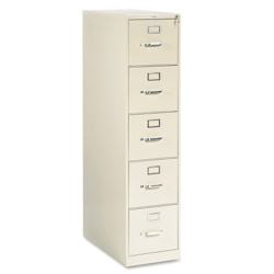 Five-Drawer Letter Size Vertical File, 34929