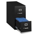 """Heavy-Duty Two Drawer Legal Vertical File 26-1/2""""D, 34009"""