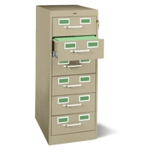 Six Drawer Card File, 34076
