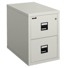 Vertical Fireproof File with Two Drawers, 34265