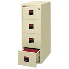 "Four Drawer Legal Size Vertical Fireproof File - 31""D, 34296"