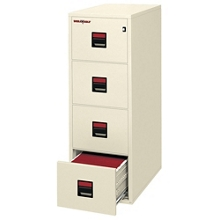 "Four Drawer Letter Size Vertical Fireproof File - 31""D, 34295"