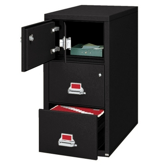 Two Drawer Legal Size Fireproof File with Safe, 34297