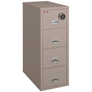 Fireproof Letter Vertical File with Four Drawers and Electronic Lock, 34312