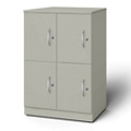 "24""W x 18""D x 35""H Quadruple Left Hand Cubby Locker, 36730"