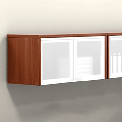 """Wall-Mounted Cabinet with Silver Doors - 36""""W, 36962"""