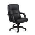 Mid Back Leather Chair, 56880