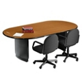 "Radius Edge Oval Conference Table - 96"" x 44"", 40219"