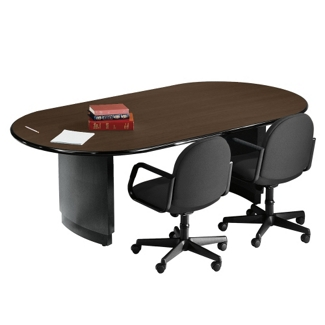 "Radius Edge Oval Conference Table - 120"" x 48"", 40221"