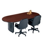 """Fluted Edge Oval Conference Table - 72"""" x 36"""", 40310"""