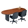 "Fluted Edge Oval Conference Table - 120"" x 46"", 40312"