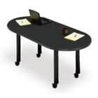 6'  Mobile Oval Conference Table, 40442