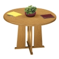 "Contemporary Round Conference Table - 36"" Diameter, 40526"