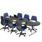Oval Conference Table 10' x 4', 40591