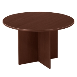 "Contemporary Round Table with Cross Base - 48""DIA, 40765"