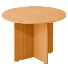 "Contemporary Round Table with Cross Base - 42""DIA, 40852"