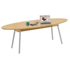 "96"" x 42"" Elliptical Table with Data Port and Shelf, 40932"