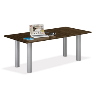 6' W Conference Table with Data Ports, 40947