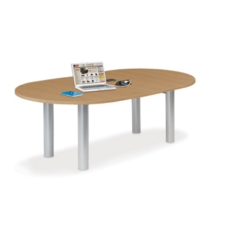 6' W Racetrack Conference Table with Data Ports, 40954