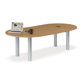 10' W Racetrack Conference Table with Data Ports, 40956