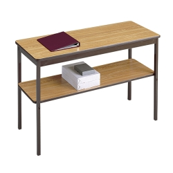 """Fixed Leg Utility Table with Lower Shelf - 30"""" x 30"""", 41079"""