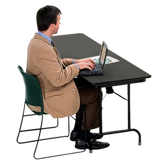 "Heavy-Duty Rectangular Folding Table  - 24"" x 96"", 41090"