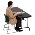 "Heavy-Duty Rectangular Folding Table  - 24"" x 96"", 41090"