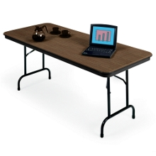 "Lightweight Rectangular Folding Table - 96"" x 30"", 41136"