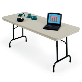 "Lightweight Rectangular Folding Table - 72"" x 30"", 41135"
