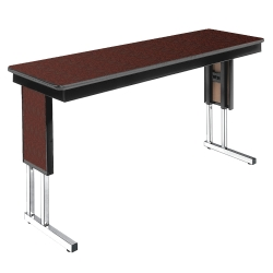 "Adjustable Height Folding Leg Seminar Table - 72"" x 18"", 41192"