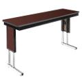 "Adjustable Height Folding Leg Seminar Table - 72"" x 18"", 41192"