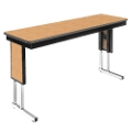 "Adjustable Height Folding Leg Seminar Table - 96"" x 18"", 41193"