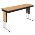 "Adjustable Height Folding Leg Seminar Table - 96"" x 18"", 41193"