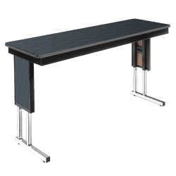 "Adjustable Height Folding Leg Seminar Table - 60"" x 18"", 41191"