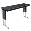 "Adjustable Height Folding Leg Seminar Table - 60"" x 18"", 41191"