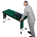 "Adjustable Height Folding Leg Seminar Table - 72"" x 24"", 41198"