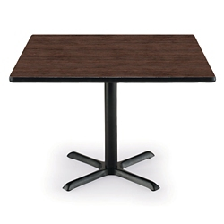 "42"" Square X-Base Breakroom Table, 41409"