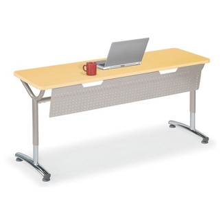 """Adjustable-Height Training Table with Modesty Panel 60""""W x 20""""D, 41431"""